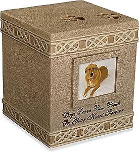 AngelStar 6-Inch Pet Urn for Dog, Dark Brown