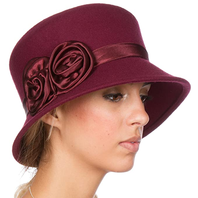 1920s Accessories | Great Gatsby Accessories Guide  Vintage Style Wool Cloche Hat  AT vintagedancer.com