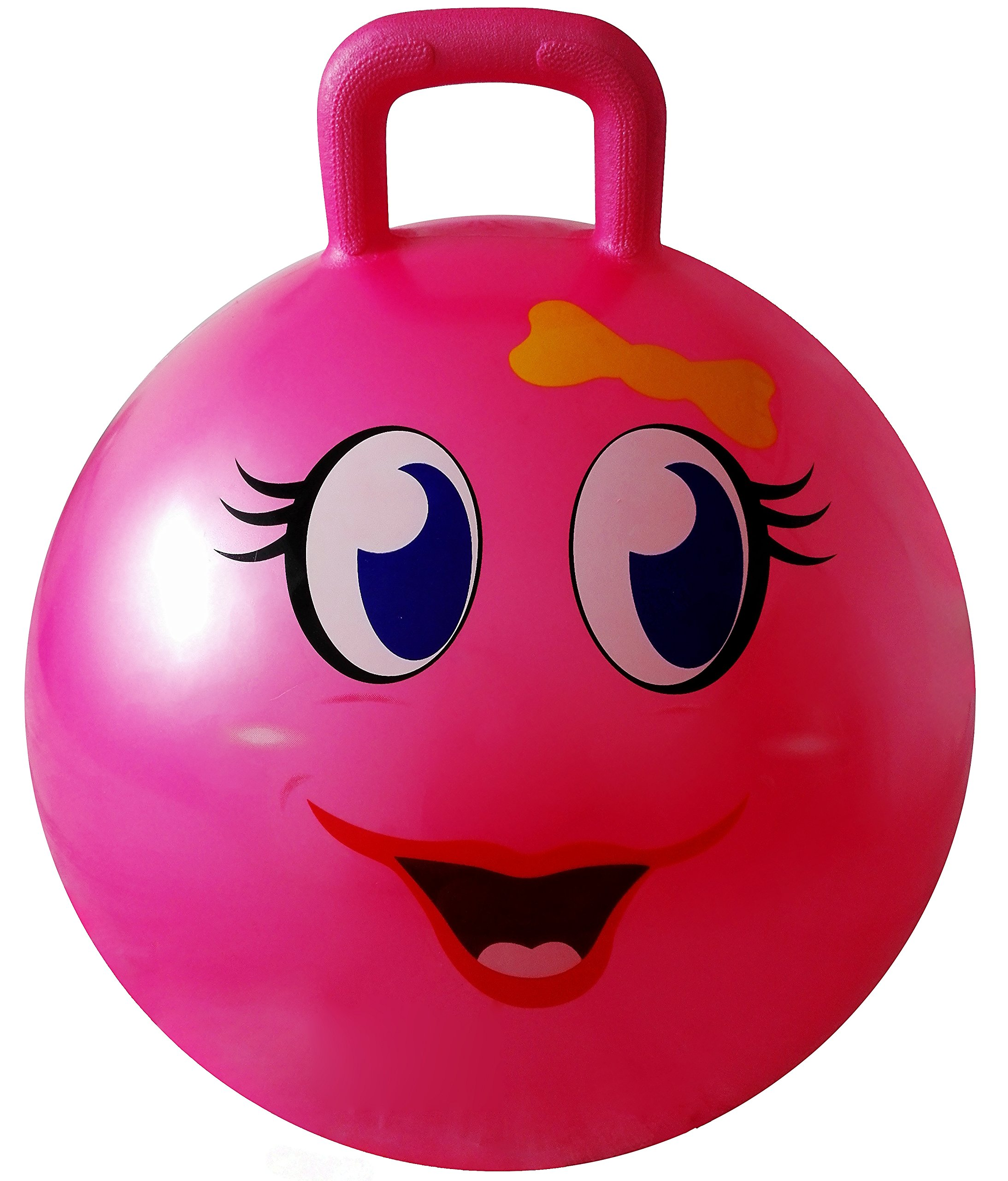 AppleRound Space Hopper Ball with Pump, 18in/45cm Diameter for Ages 3-6, Hop Ball, Kangaroo Bouncer, Hoppity Hop by AppleRound