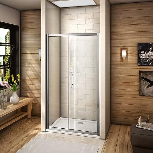 Ducha puerta corredera Walk en cubículo Panel lateral bandeja, 1100mm door+1100x760mm tray: Amazon.es: Hogar