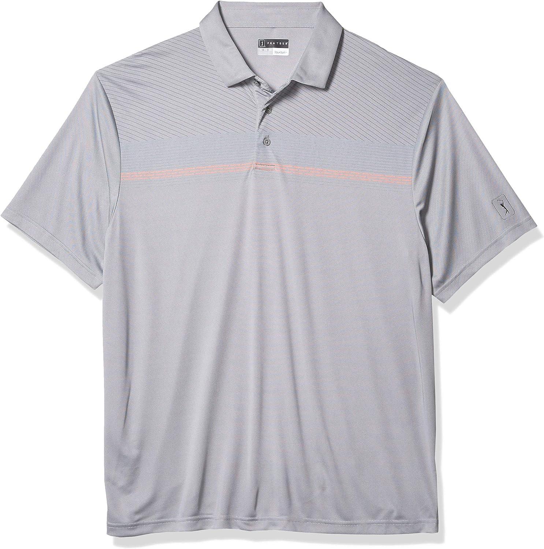 PGA TOUR Men's Short Sleeve Super intense SALE Shirt Print Miami Mall Polo Chest