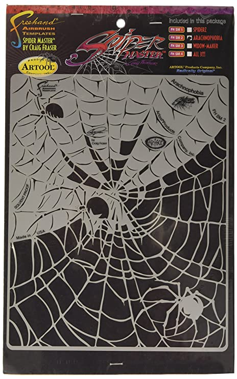 Amazon.com: Artool Freehand Airbrush Templates, Spiderz Template Set: Toys & Games