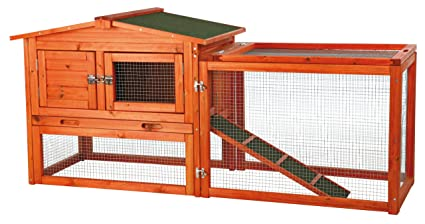 Amazon Com Trixie Pet Products Rabbit Hutch With Outdoor Run Pet