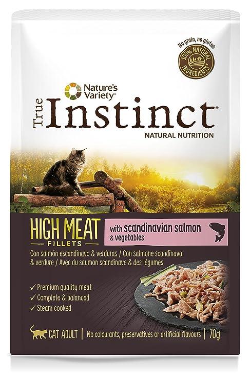 True Instinct High Meat Filletes con Salmón para Gatos 70 gr - Pack de 8