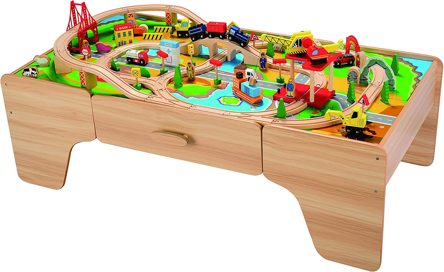 Butternut Construction Wooden Train Set and Table Amazon.co.uk Toys \u0026 Games  sc 1 st  Amazon UK & Butternut Construction Wooden Train Set and Table: Amazon.co.uk ...