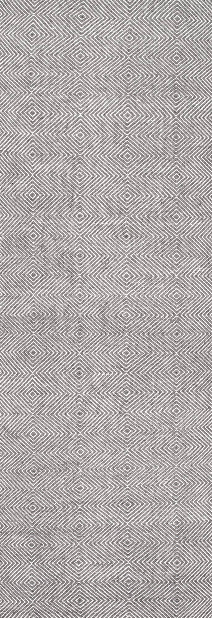 nuLOOM Handmade Fancy Trellis Wool Paddle Runner Area Rugs, 2' 6'' x 8', Grey by nuLOOM (Image #2)