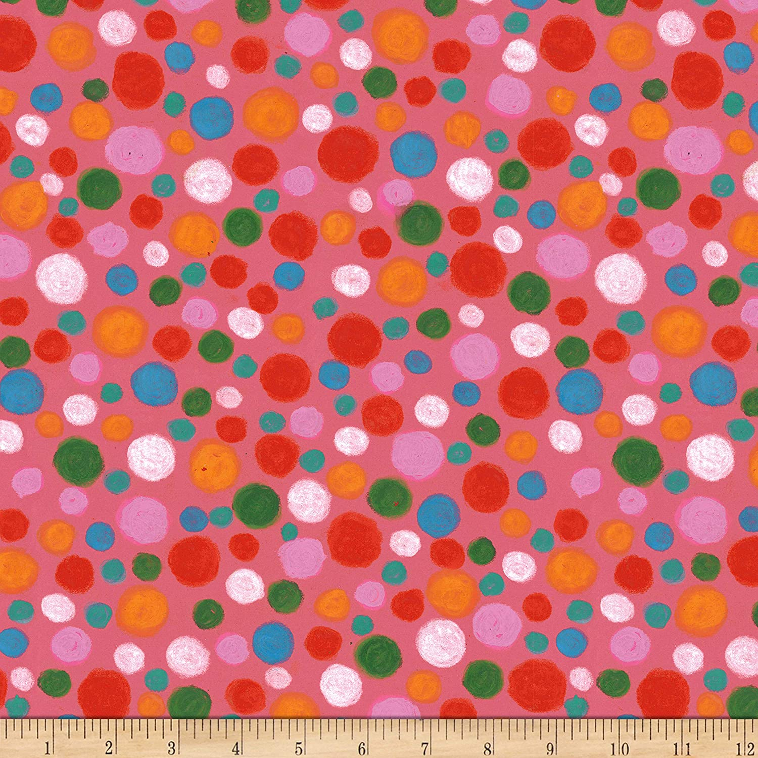 4 12 Yards of Vintage Pink and White Mottled Print Cotton Fabric