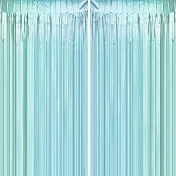 Image result for iridescent sea green x gold curtains