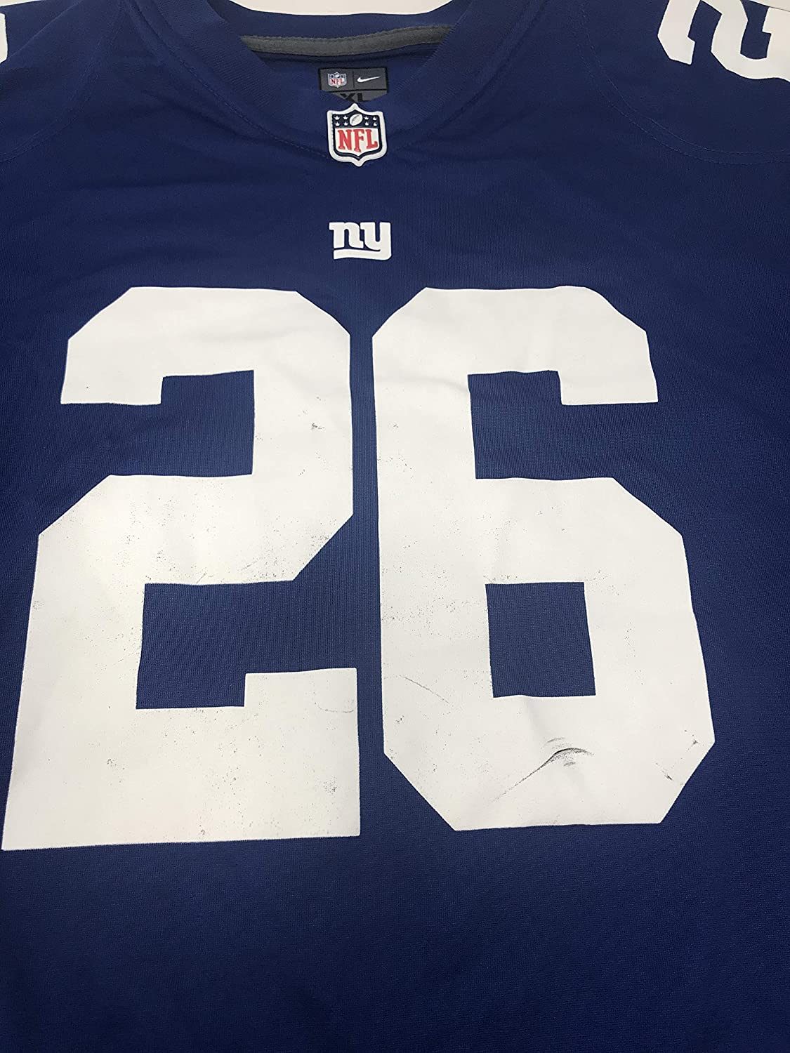 aa7cc94e902f3 NIKE Saquon Barkley New York Giants Team Color Youth Game Jersey