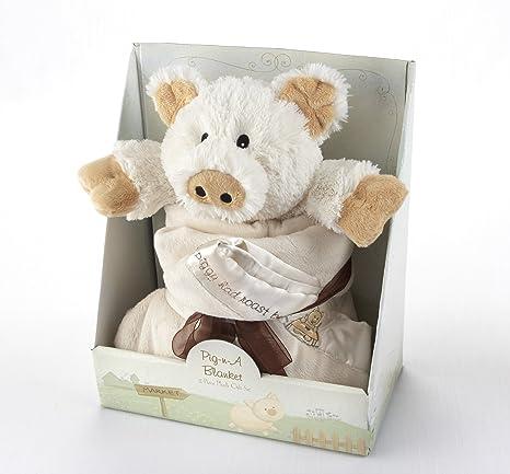 Amazon.com: Bebé Aspen pig-n-a Manta 2-Piece Set De Regalo: Baby