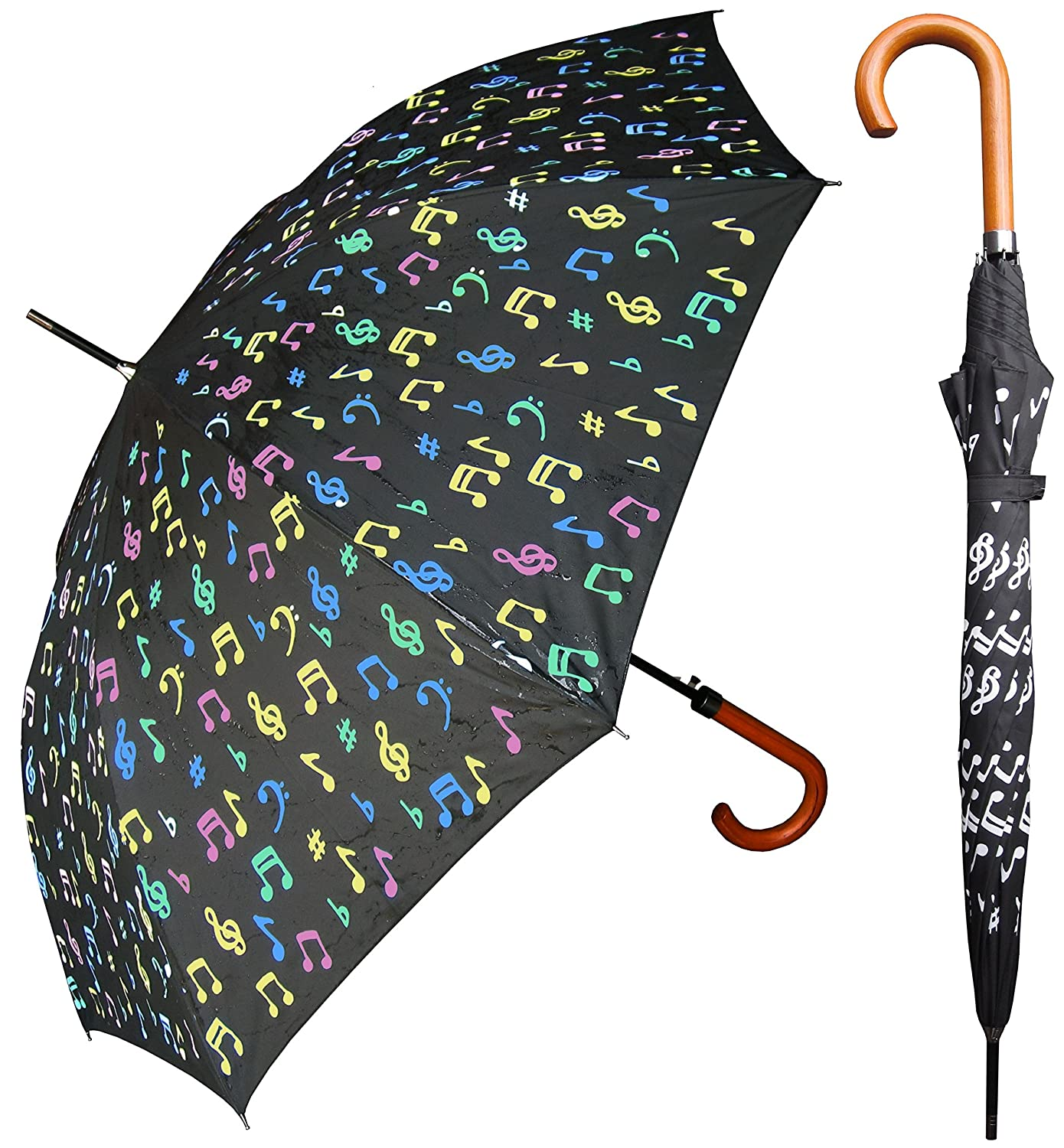 RainStoppers Color Changing Umbrella - 48 Inches (Music Notes) high-quality