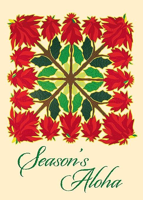 hawaiian holiday quilt by charlene hughes set of 12 hawaiian christmas cards - Hawaiian Christmas Cards