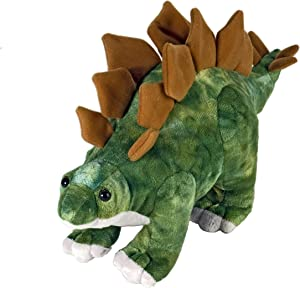 "Wild Republic Stegosaurus Plush, Dinosaur Stuffed Animal, Plush Toy, Gifts for Kids, Dinosauria 15"""