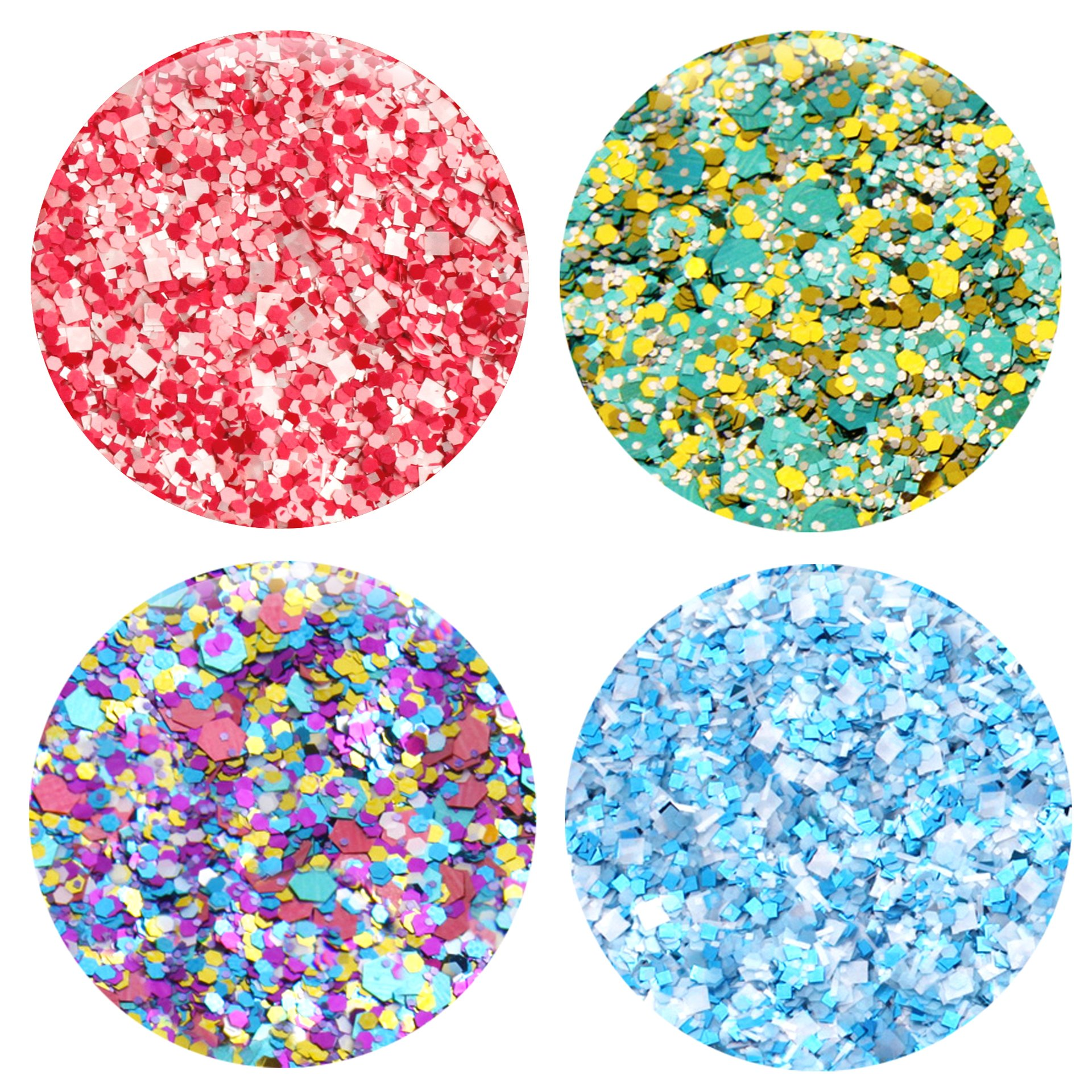 Mixed Glitter 20 Piece Kit - Includes Solvent Resistant Dust, Powder, Hexagon, Holographic, Matte Glitters - Great for Nail Art Polish, Gels, Art and Crafts, Paints & Acrylics Supplies - 1/4 OZ Jars by Glitties (Image #4)