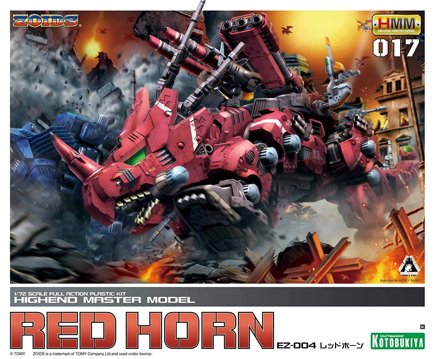 1/72 Scale High End Master Model EZ-004 Red Horn Zoid