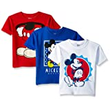 Amazon Price History for:Disney Toddler Boys' Mickey Mouse 3-Pack Short Sleeve T-Shirt