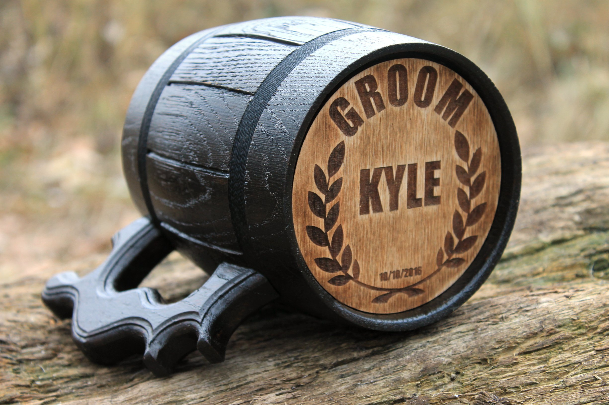 Set of 10 Personalized Wooden beer mug Engraved Mug Wedding Gift Wood Mug Wood Tankard