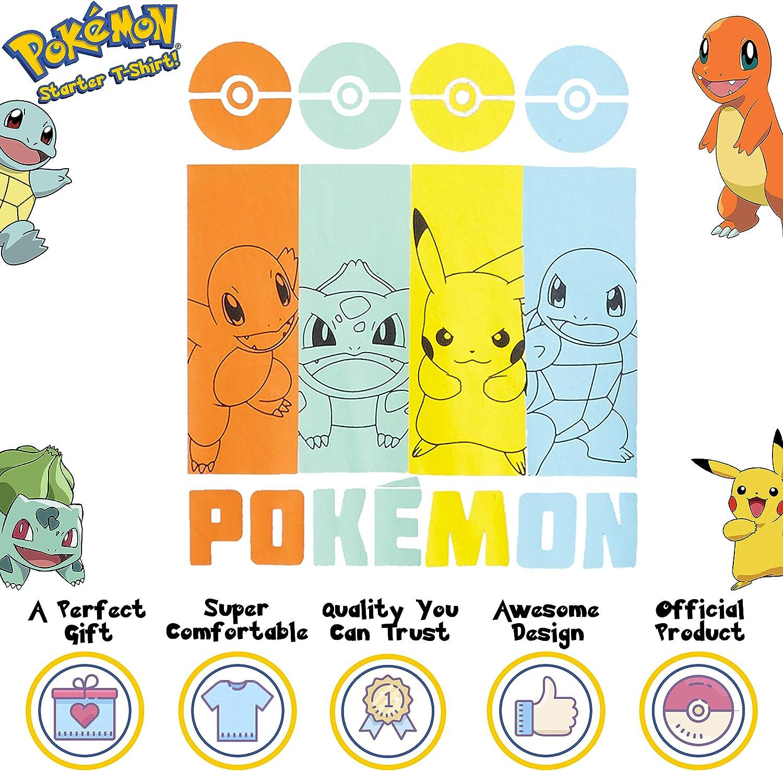 Magliette Ragazzi Cotone Pokemon Maglietta Bambino Charmander Regali Ragazzi 4-14 Anni Abbigliamento Ragazzo Ufficiale con Pikachu Squirtle E Bulbasaur