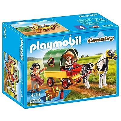 Playmobil Granja de Ponis - Picnic con Poni y Carro (6948): Juguetes y juegos