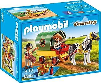 Oferta amazon: PLAYMOBIL Granja de Ponis - Picnic con Poni y Carro (6948)