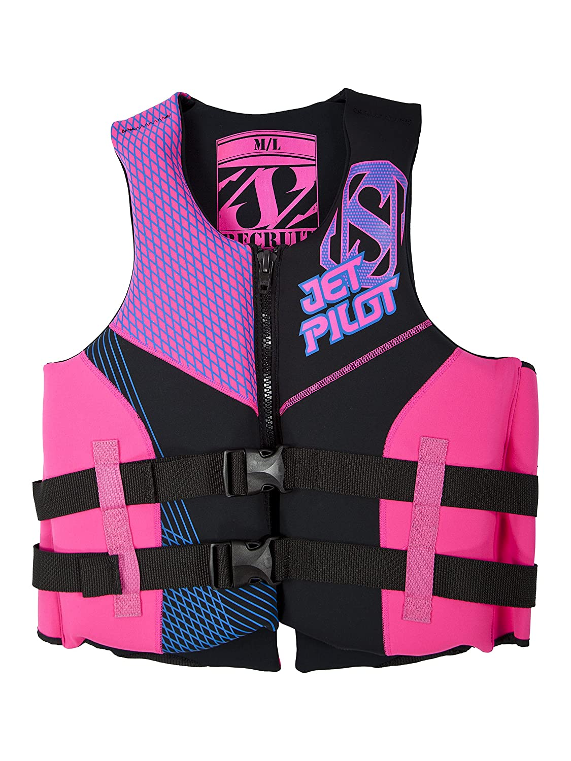 Jetpilot Recruit Neo USCG Approved PFD B01BDBZJA0 Small|ホットピンク ホットピンク Small