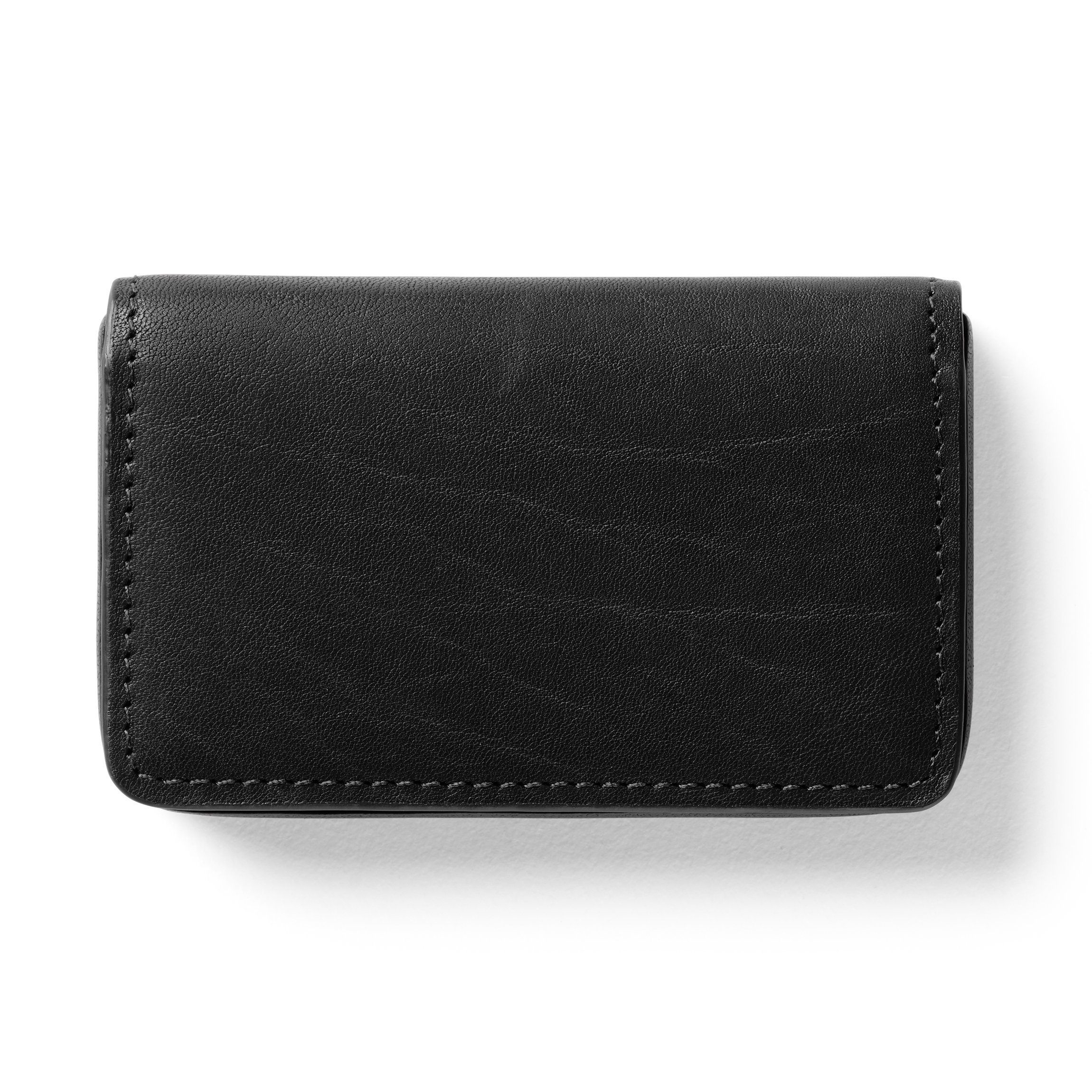 Business Card Case - German Leather - Black Oil (black)