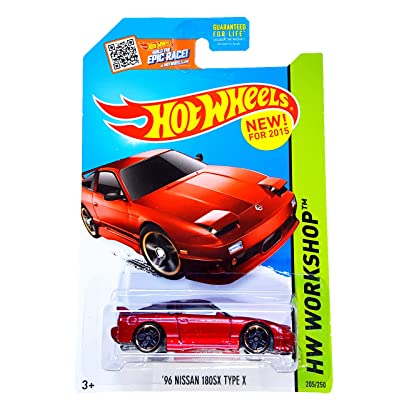 Hot Wheels 2015 HW Workshop '96 Nissan 180SX Type X 205/250, Red: Toys & Games