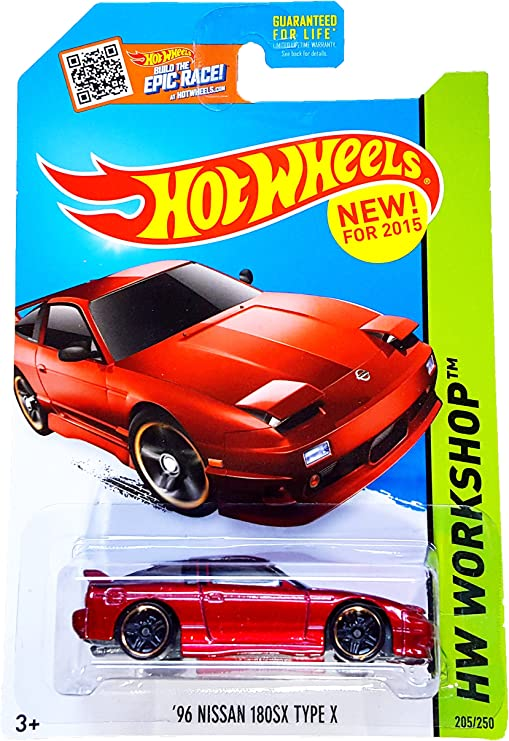 puprle Mattel Hot Wheels Flying Customs 96 Nissan 180SX Type X