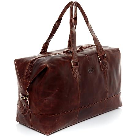 Bolsa de viaje de estilo vintage 61 cm tama/ño grande de piel