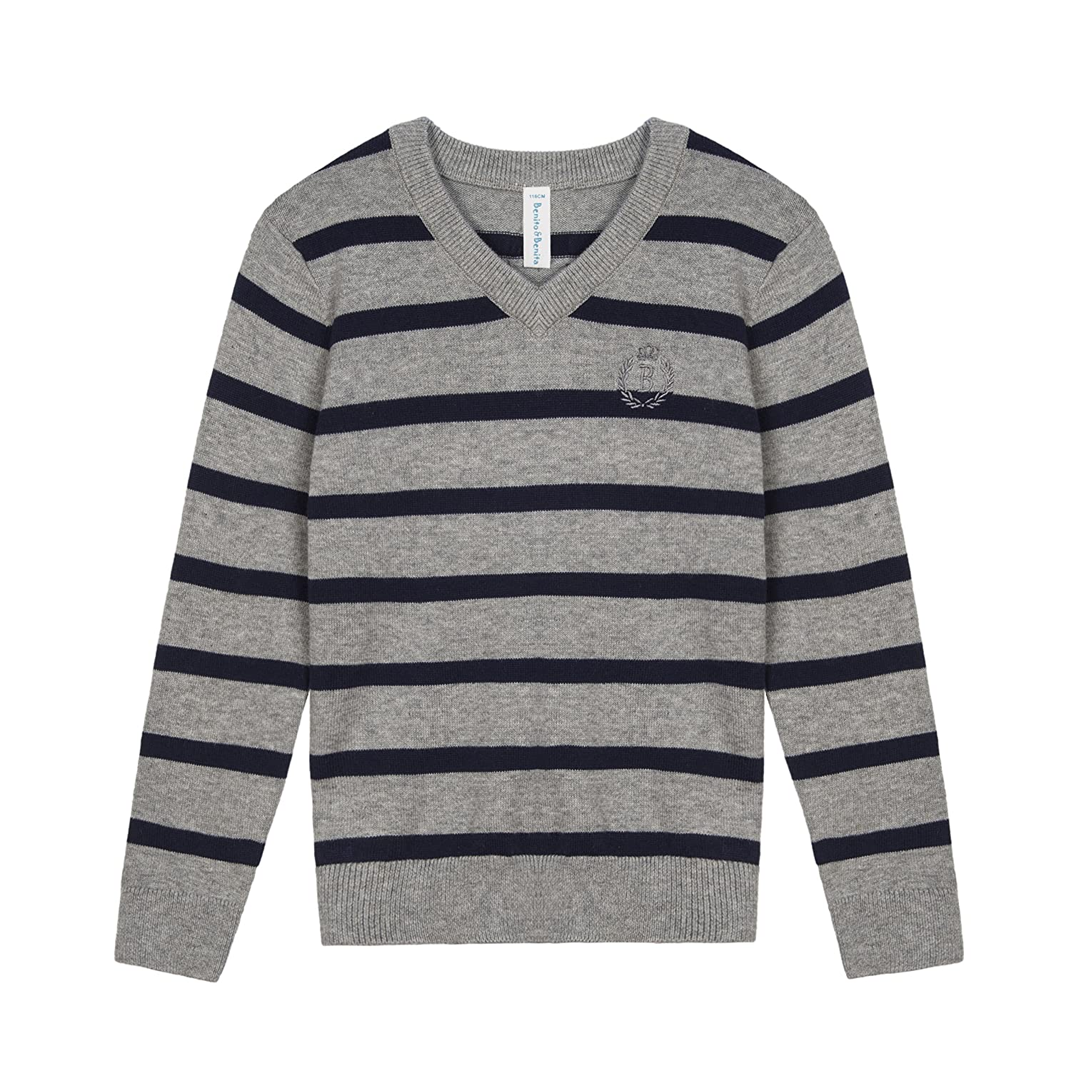f6259c32784 Suggest one size larger☆ Color  Grey Navy. Age  For 3-12 years. Our boys long  sleeve pullover sweater with good elastic