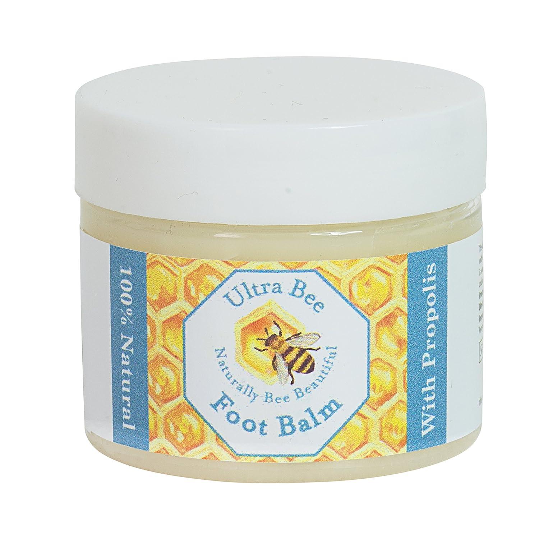 Fußbalsam mit Honig und Teebaumöl 50ml, Nagelpilz, Fußpilz - 100% natürlich Ultra Health