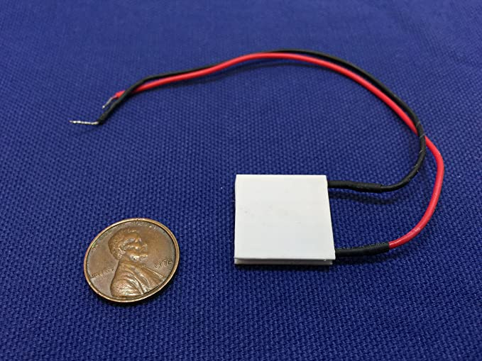 TES1-4902 White Heatsink Thermoelectric Peltier Cooler Plate Module Semiconductor 6V 20 x 20mm