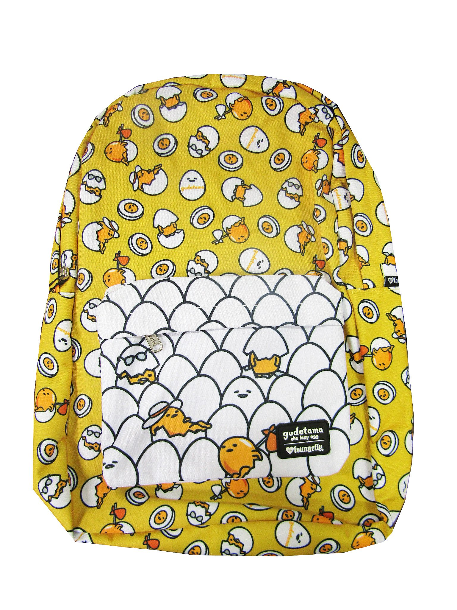 Loungefly Gudetama Multi Pose Print Nylon Backpack (One Size, Yellow)