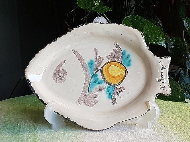 Piatto In Ceramica Siciliana A Forma Di Pesce Piatto Decorativo