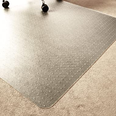 Marvelux 36  x 48  ECO (Enhanced Polymer) Rectangular Chair Mat for Low and Standard Pile Carpets   Transparent Carpet Protector   Multiple Sizes