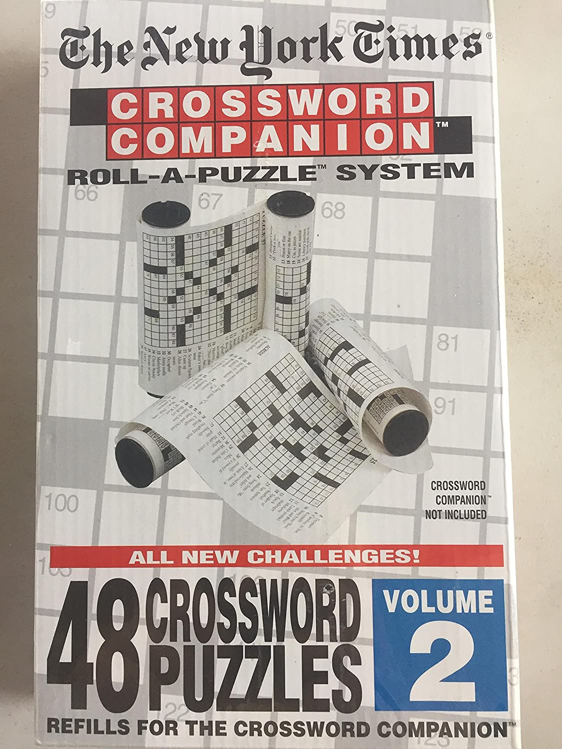 The New York Times Crossword Companion Roll A Puzzle Refills Volume 2