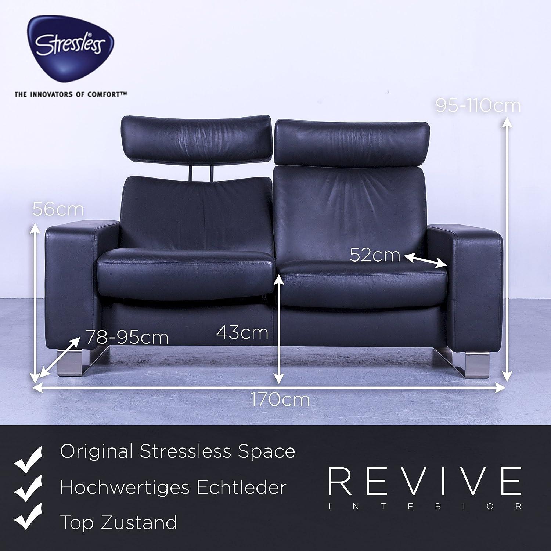 Ekornes Stressless Space Designer Leder Sofa Schwarz ...