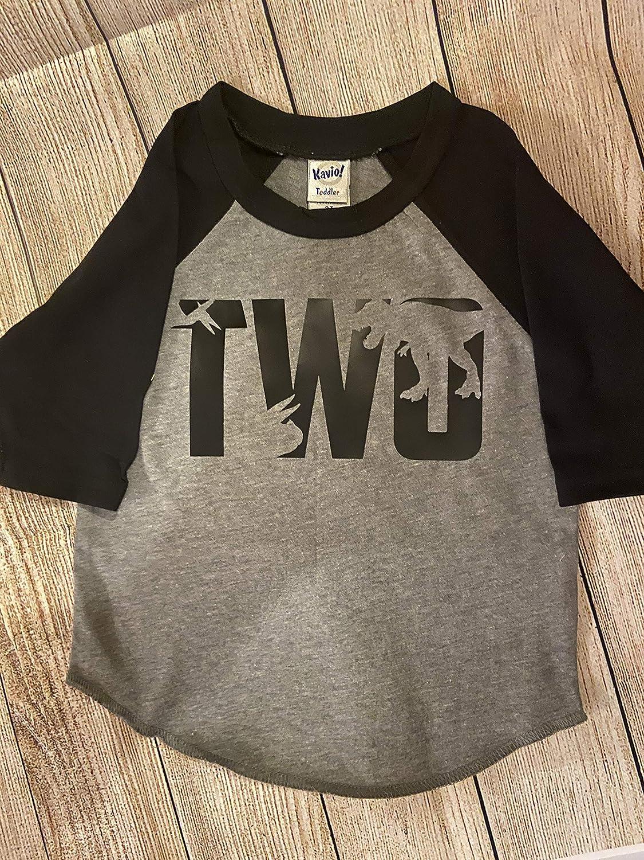 Amazon Com Boy S Second Birthday Dinosaur Shirt Boy S 2nd