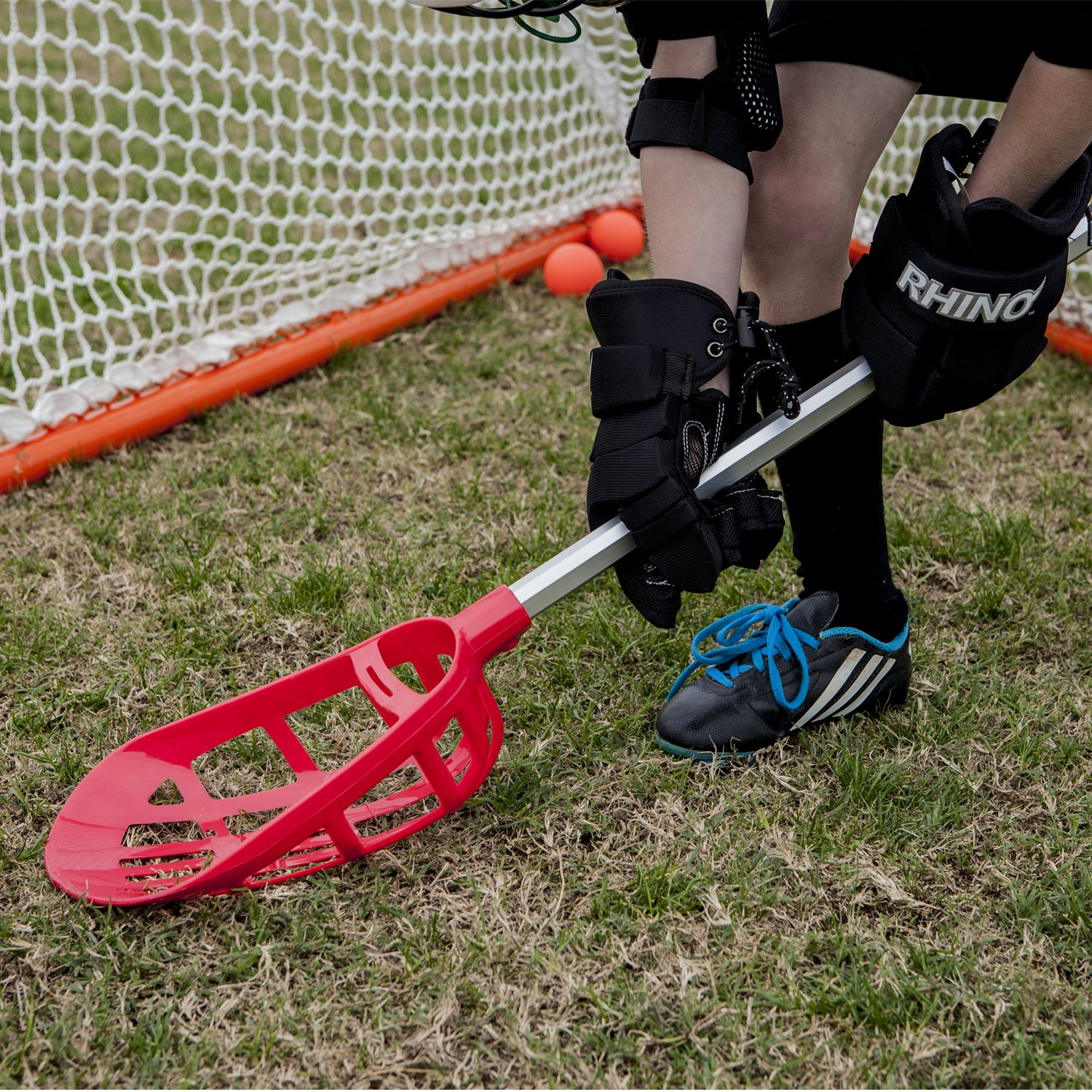 Champion Sports Soft Lacrosse Set: Training Equipment for Boys, Girls, Kids, Youth and Amateur Athletes - 12 Aluminum Sticks and 6 Vinyl Balls for Indoor Outdoor Use by Champion Sports (Image #8)