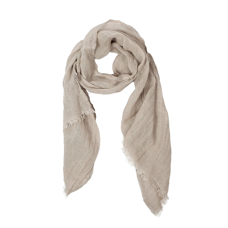 da18ecbf144 Natural Grey Scarf | 100% Linen Scarf | Scarves For Women | Mens Scarf |  Linen