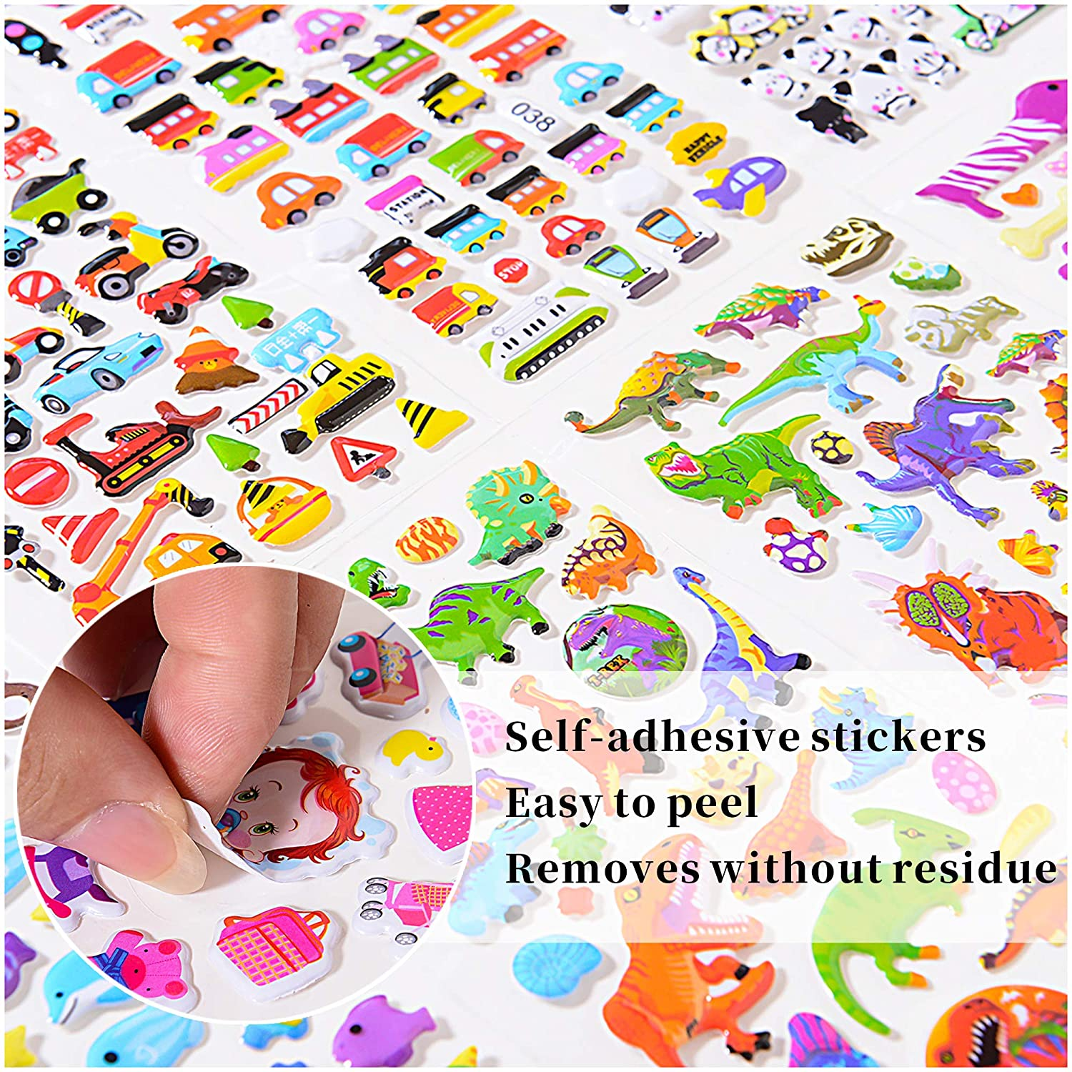Luggage Decal,Graffiti Patches Multiple Style Incentive Stickers for Teachers/- No-Duplicate Sticker Pack 48 Sheets Stickers for Kids 2400+ Motorcycle Bicycle