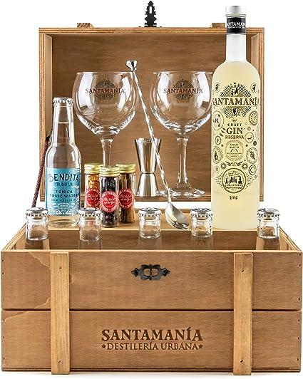 Cofre Gin Tonic Premium - SANTAMANIA Gin Reserva: Amazon.es: Alimentación y bebidas