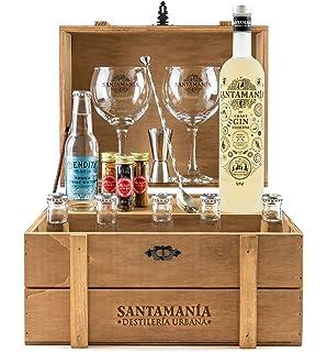 Cofre Gin Tonic Premium - SANTAMANIA Leyenda Urbana Gin: Amazon.es: Alimentación y bebidas