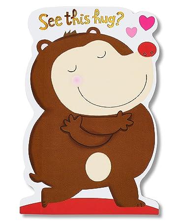 Amazon american greetings hedgehog hug valentines day card american greetings hedgehog hug valentines day card with flocking m4hsunfo Gallery