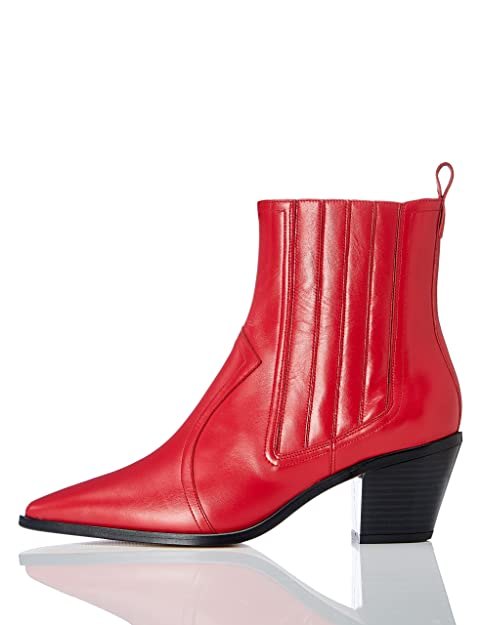 75255e4b94598 FIND Botines de Cuero Estilo Vaquero Mujer  Amazon.es  Zapatos y  complementos