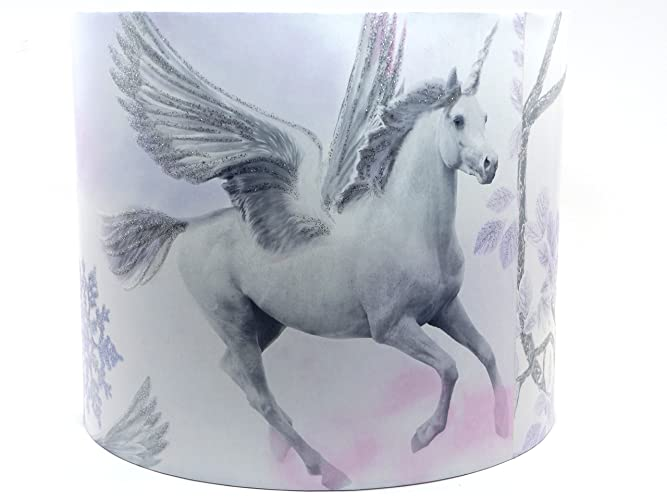 Unicorn lampshade or ceiling light shade 10 drum shade lilac unicorn lampshade or ceiling light shade 10 drum shade lilac glitter princess castle horses pony negle Images