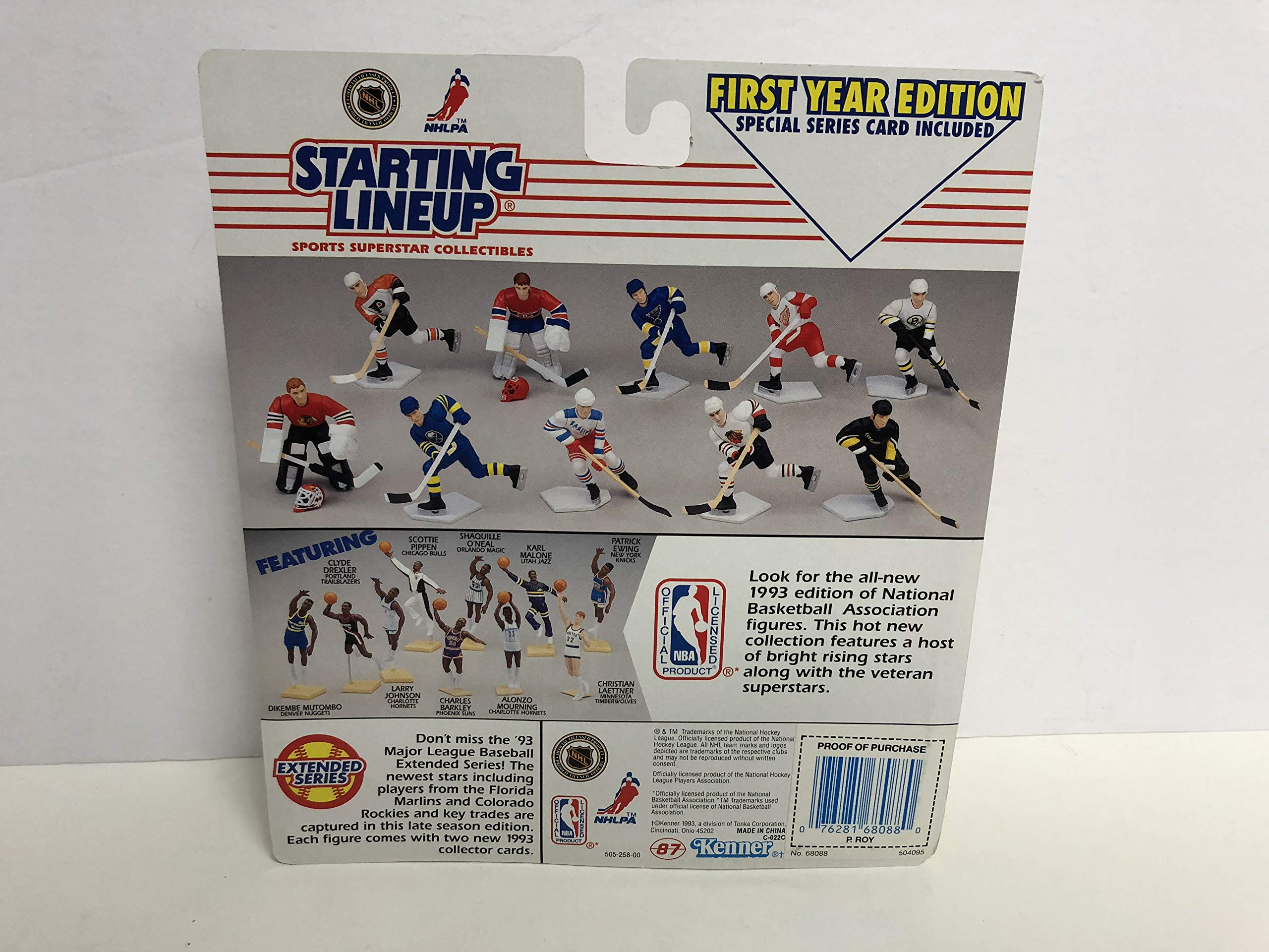 1993 Patrick Roy Montreal Canadians NHL Goalie ROOKIE Action Figure with Collectibles Trading Cards Shot Stopper