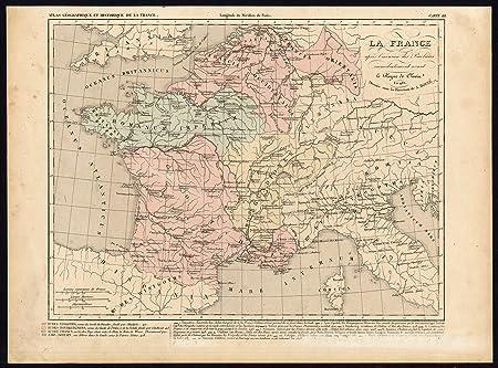 Map Of Spain Italy.Antique Map France Belgium Spain Italy Clovis Houze Adam 1859