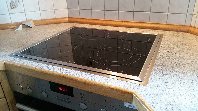 Marco de acero inoxidable - Adaptador - Para placas de cocina: Amazon.es: Grandes electrodomésticos