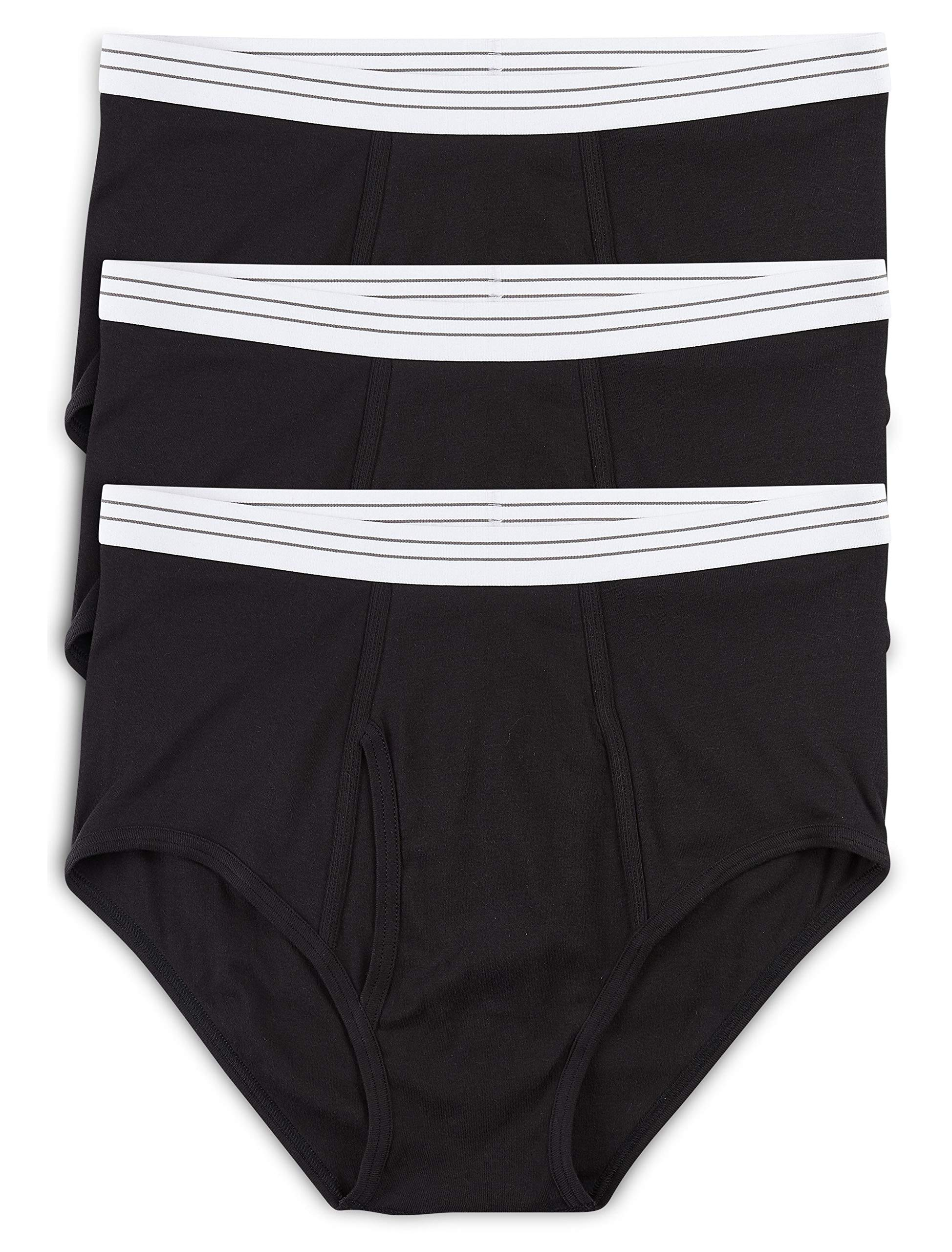 Harbor Bay by DXL Big and Tall Color Briefs, Black 2XL, Pack of 3 by Harbor Bay